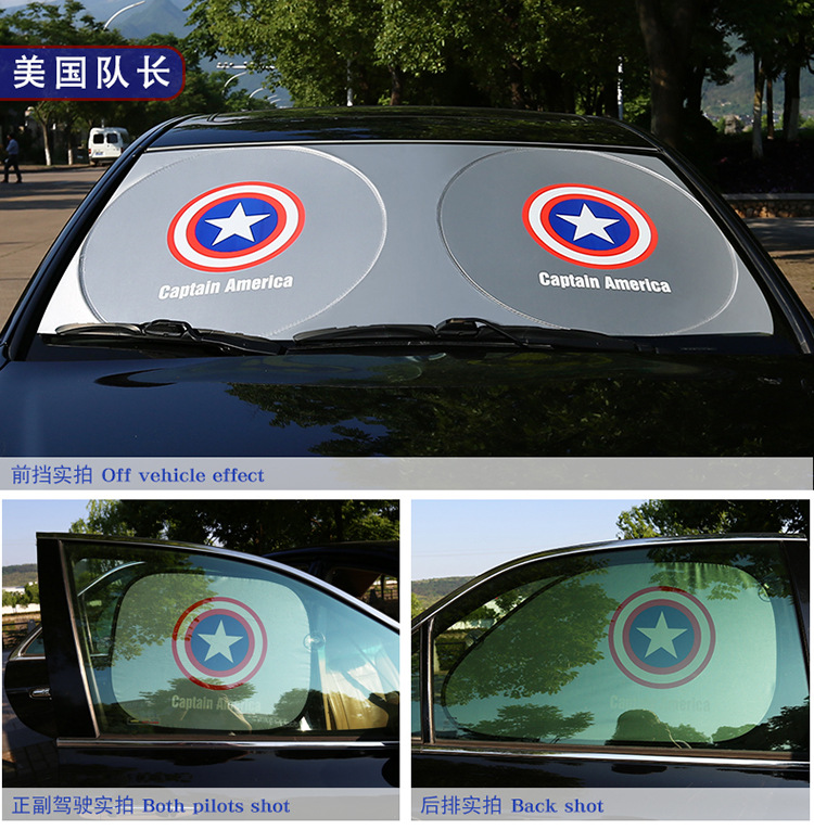Us Captain Superman Batman Car Side Sun Visor Summer Cartoon Car Side  Window Sun Visor 2 Pieces-in Side Window Sunshades from Automobiles    Motorcycles on ... 6c21c6afb30