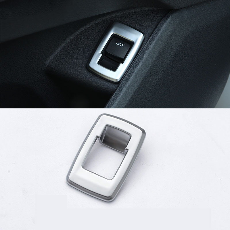 For BMW X1 F48 20i 25i 25le 2016 2017 ABS Matte Chrome Interior Tail Door Swtich Frame Button Cover Car Accessories