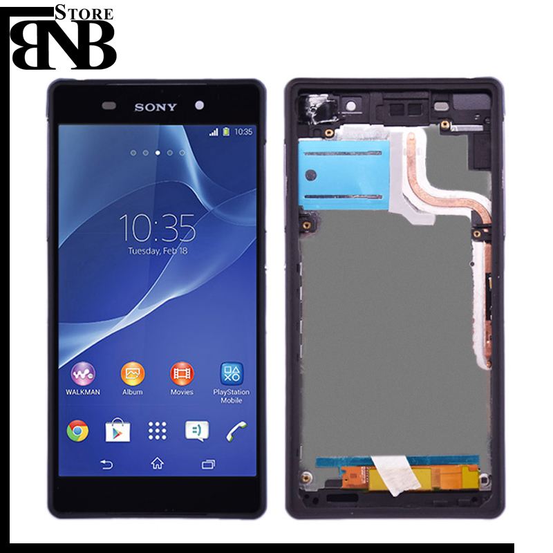 Original For Sony Xperia Z2 L50W D6502 D6503 LCD Display and touch screen digitizer Touch Screen Assembly with frame|Mobile Phone LCD Screens| |  - title=