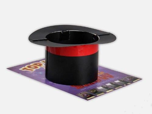 Chapeau haut drôle spectacle de magie tours de magie chapeau apparaissant de l'affiche Magia magicien scène Illusion accessoires accessoires Gimmick - 3