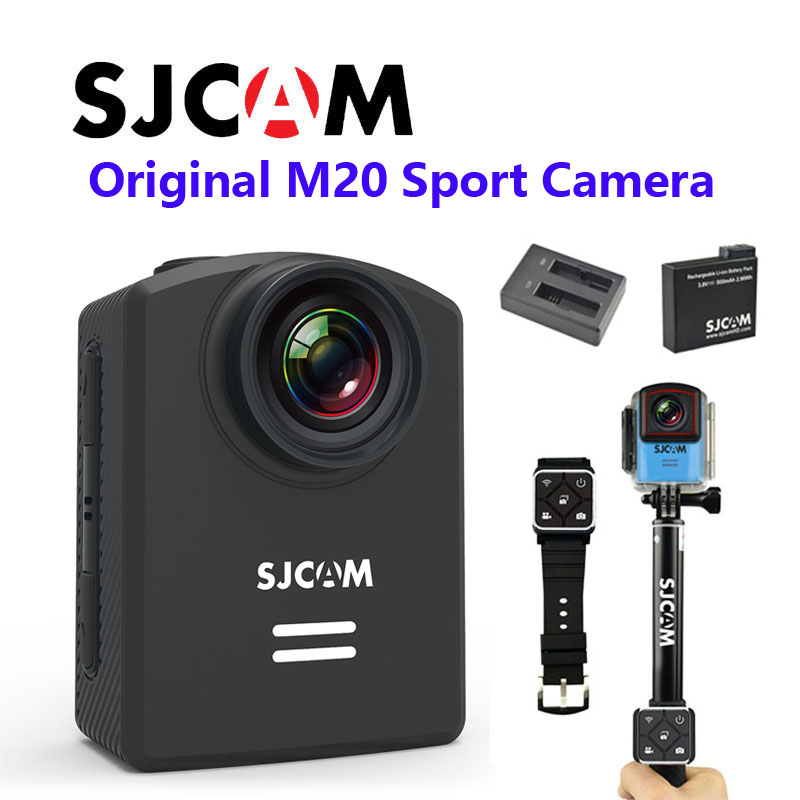 Livraison Gratuite!! Newtest SJCAM M20 Wifi Gyro Sport Caméra D'action HD 2160 p 16MP montre Bluetooth retardateur levier télécommande