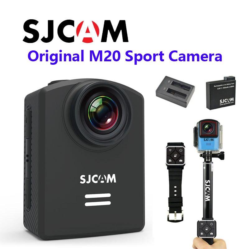 Livraison gratuite!! Newtest SJCAM M20 Wifi Gyro Sport caméra d'action HD 2160 P 16MP Bluetooth montre retardateur levier télécommande