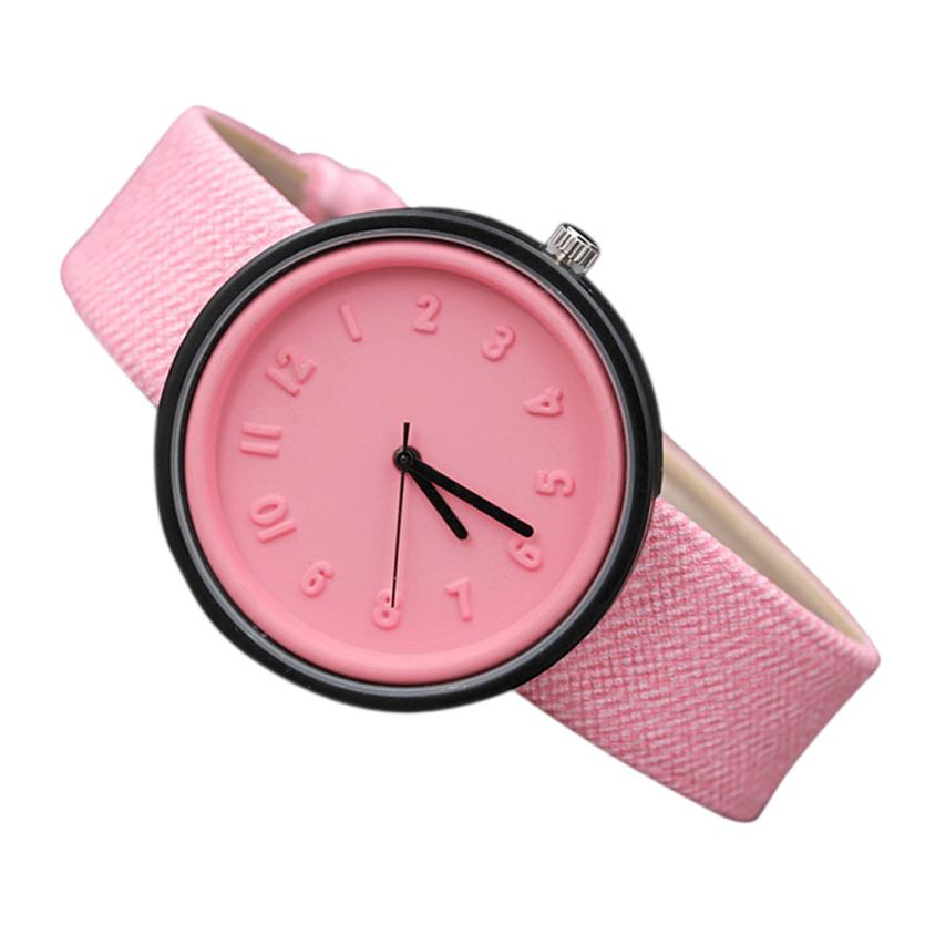 2017 Newly Designed Quartz Wristwatches Unisex Simple Fashion Number Watches Quartz Canvas Belt Wrist Watch Levert Dropship 613