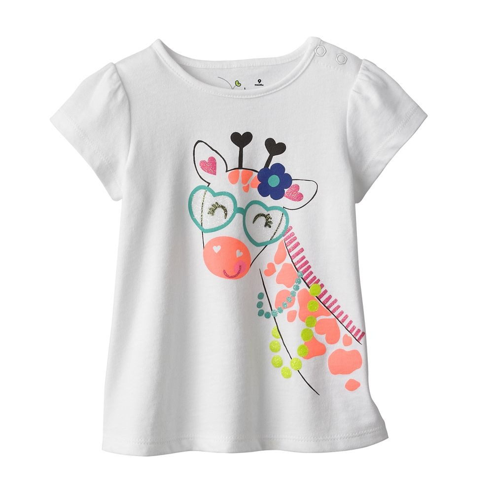 2016 Summer Children T shirt Cartoon Ice Cream Print Girls
