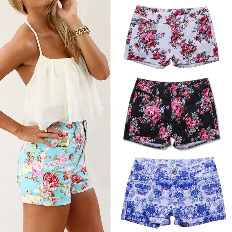 fanshou free shipping 2014 spring summer women shorts high