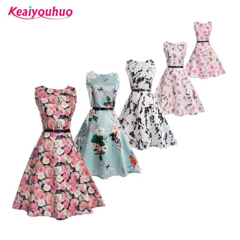22094c856d Girls dress 2019 new Summer Children Kids Clothes Baby Girl Clothing Floral  print teens 11 12 13 14 15 16 years Birthday Dresses