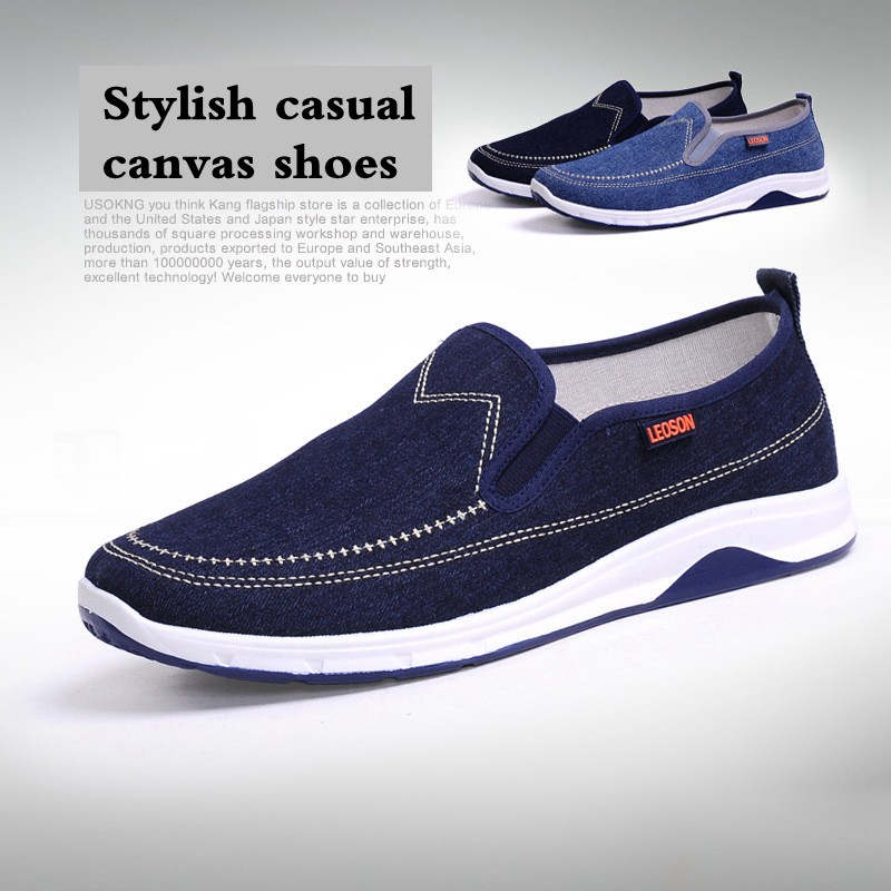 Men Canvas Shoes 2018 Summer New Breathable Casual Men Shoes China Hot Cheap Comfortable Fashion Denim Men Casual Loafers tp1227 cheap wholesale 2016 new autumn winter hot selling women s fashion casual denim pants