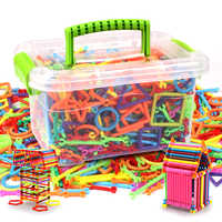 500pcs DIY Creative Intelligence Sticks Blocks Magic Wand Magnetic Designer Construction Set Plastic Model & Building Blocks