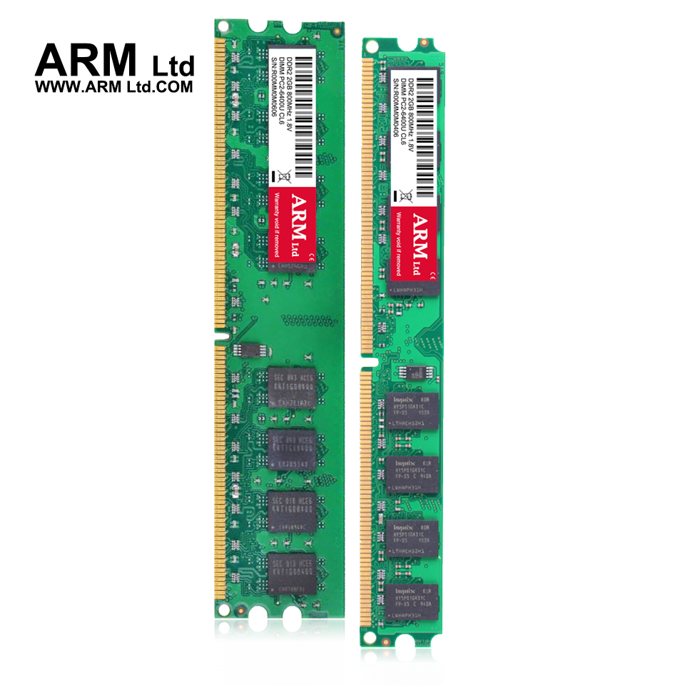 ARM Ltd Brand New Sealed DDR2 2GB 667Mhz 800Mhz compatible all memory CL5-CL6 1.8V DIMM RAM 1G 667 2G 800 Lifetime Warranty