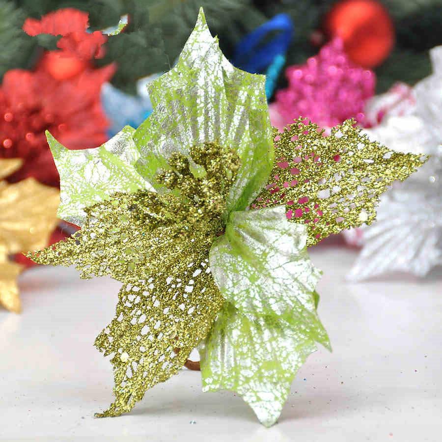 New Christmas tree Ornament 17cm Blue Christmas flowers For ...