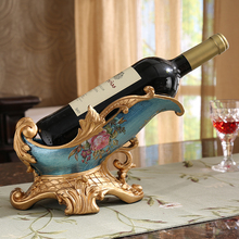 European wine frame decoration supplies Home Furnishing living room TV cabinet table cabinet Decor Vintage Wine Holder недорого