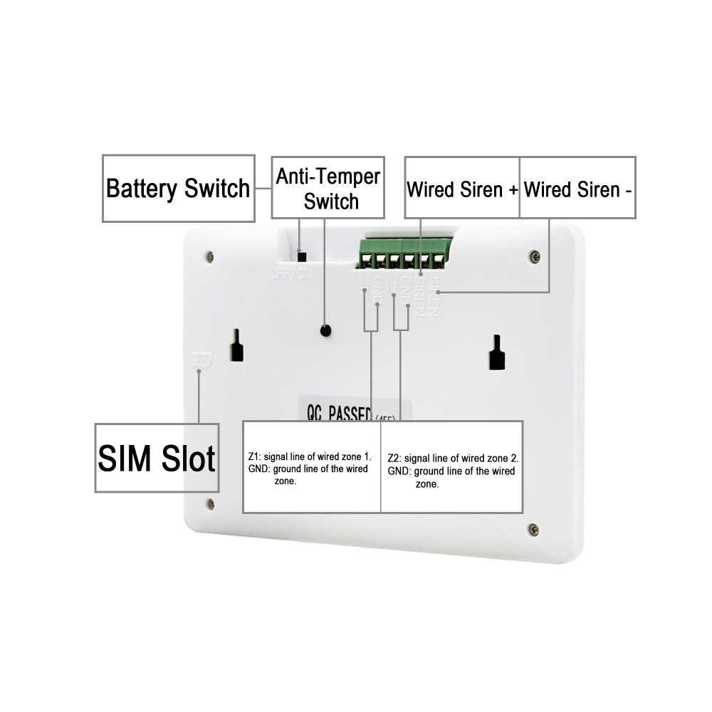 daytech wireless gsm alarm system kit motion detector sensor burglar alarm system home security audio  [ 1000 x 1000 Pixel ]
