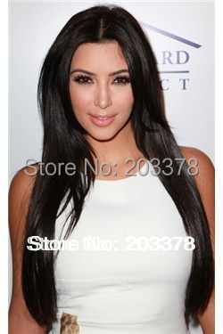Lace wig hair Lace Front Wig about 24inches Straight Sexy Black wig (Free Shipping)