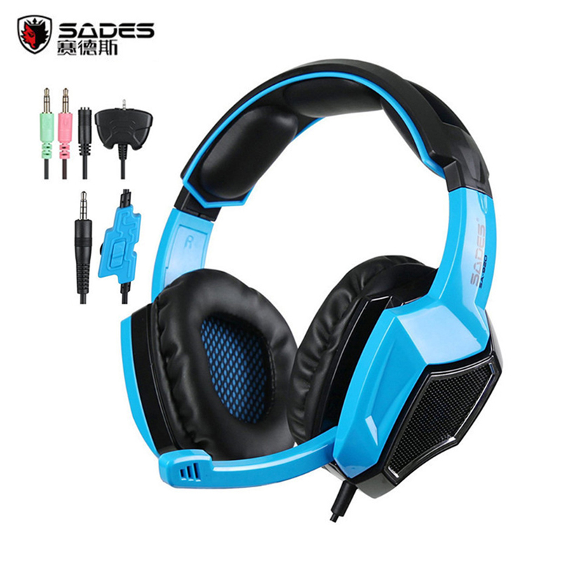 Gaming Headset Sades SA920 3 in1 Stereo Gaming Headphones with Mic Volume Control for Mobile Phone Xbox360 Tablet Best casque aaliayh gaming headphones for ps4 ps3 for xbox 360 xbox one pc wire headset headphones with microphone voice control headphones