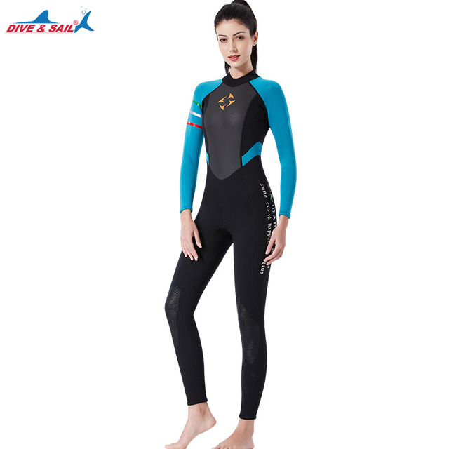 Women Wetsuit 3mm neoprene diving suit  full wetsuits  swimsuit womens dive suit snorkel surfing swimsuit
