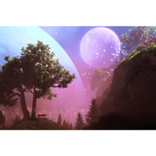 Full Square Drill 5D DIY Trees moon colorful bubbles diamond painting Cross Stitch 3D Embroidery Kits home decor H89 full square drill 5d diy seaside volcano moon diamond painting cross stitch 3d embroidery kits h118