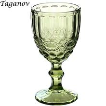 Copas de vino boda fiesta Copa transparente decoración anaglifo Vintage regalo cocina bar comedor vasos rojo 50JB020