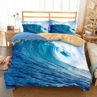 Fanaijia 3d Bedding Set queen size kids Beach duvet Cover With Pillowcases bedclothes 3D bed sets Home textile