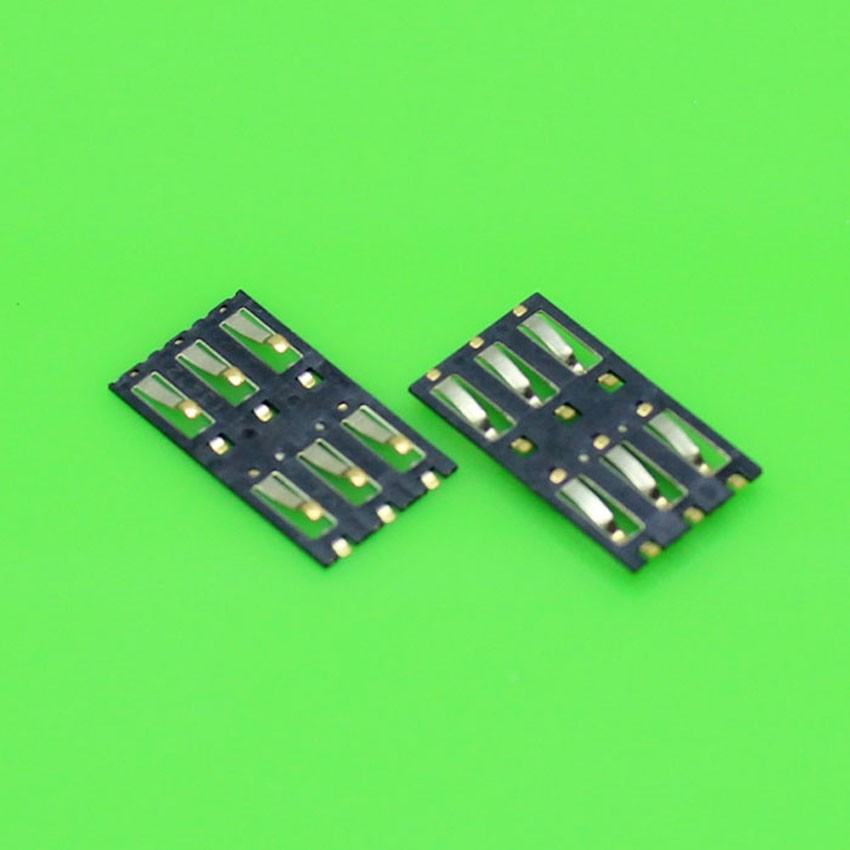 2pcs/lot Brand New SIM Card Reader Connector FOR Xiaomi 3 M3 Mi3 Mi 3 Cell phone