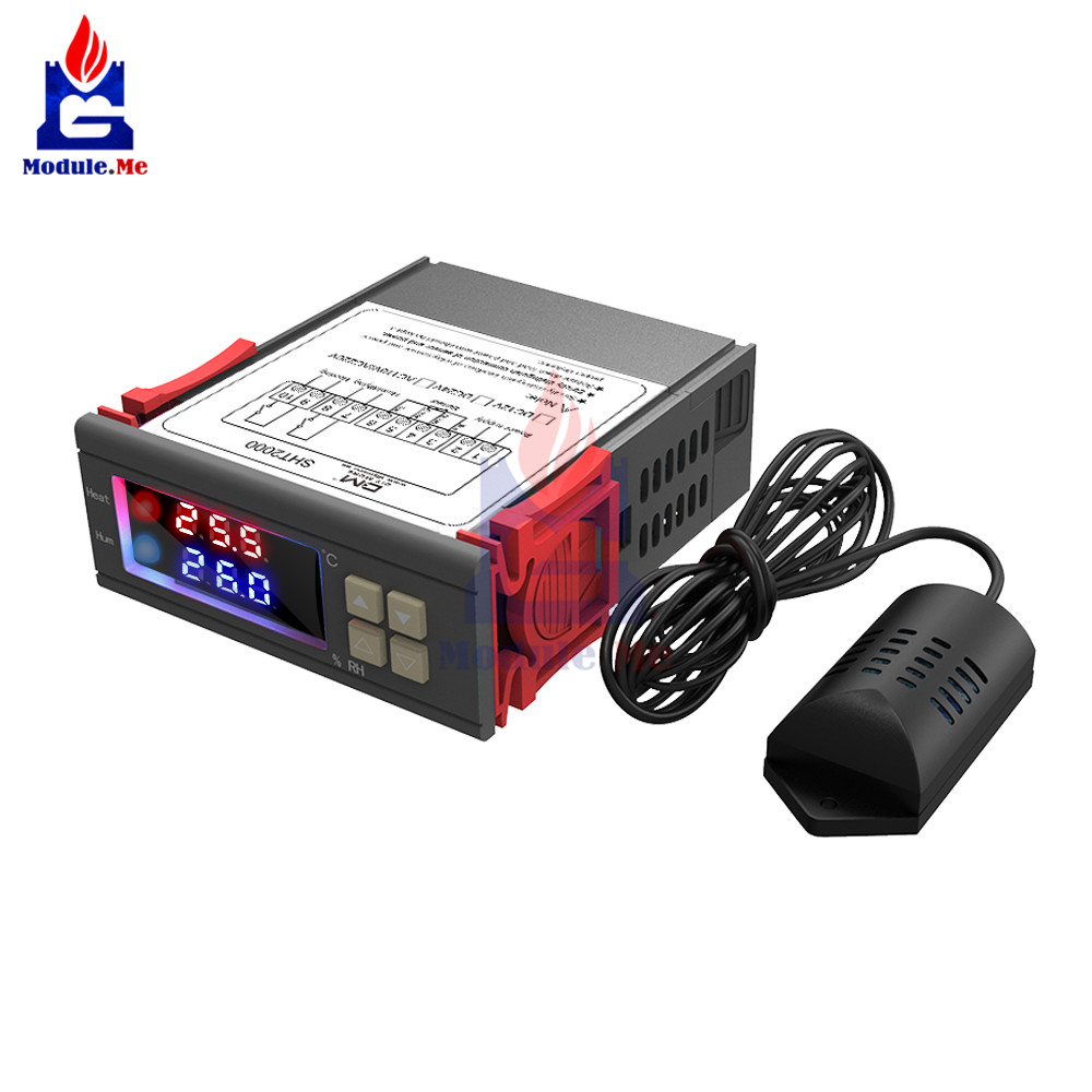 Dc 12-72v/ac 110-230v 10a Sht2000 Led Digital Thermometer Hygrometer Sht20 Temperature Humidity Sensor Humidistat Thermostat Active Components