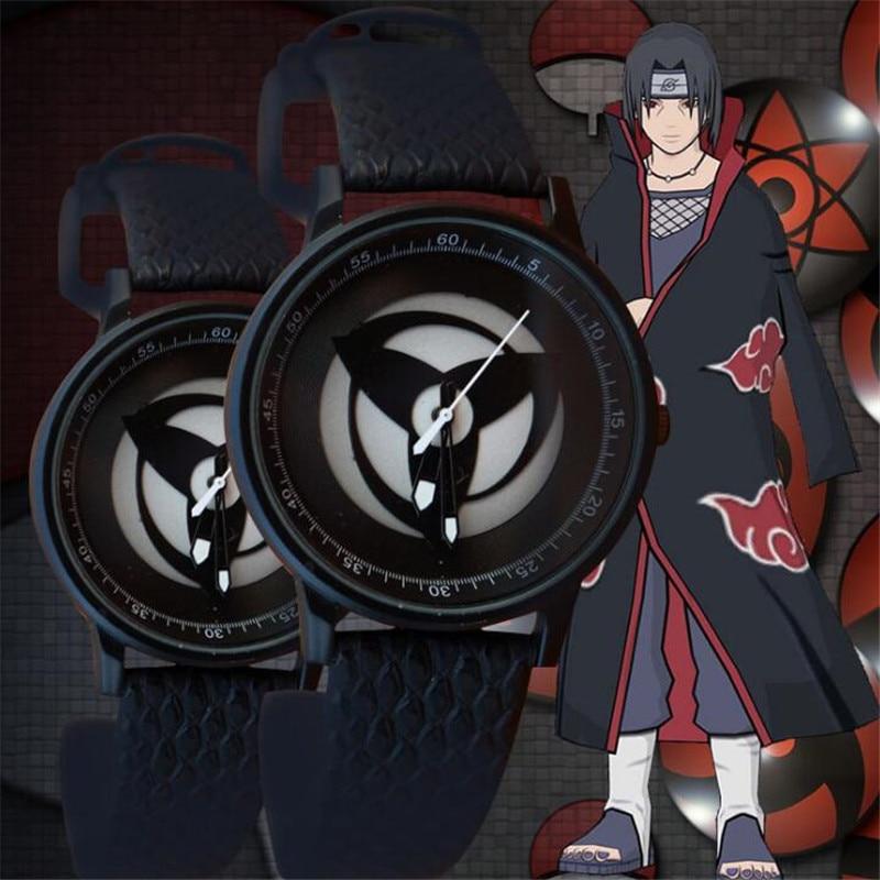 Costume Props Naruto Uchiha Sasuke Sharingan Dynamic Rotate Led Watch Waterproof Touch Screen Digital Light Wristwatch Cosplay Props Gift New Quality First Costumes & Accessories