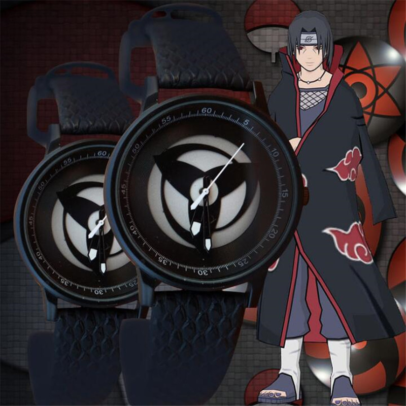 Japanese Anime NARUTO Uchiha Sasuke Anime Watch Cosplay Hatake Kakashi Sharingan sign Fashion Watch Accessories
