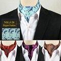 Мужские Пейсли Цветочные Горошек Шелковые Ascot галстук Жаккардовые Шарфы Шарф Галстуки Галстук Тканые Свадьба Рубашка аксессуары