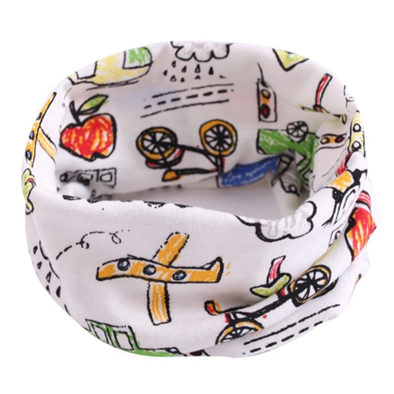 Весенний детский хлопковый шарф, теплый шарф для маленьких детей, осенне-зимние шарфы с героями мультфильмов для мальчиков и девочек, детский воротник с круглым вырезом, волшебный шейный платок - Цвет: 20