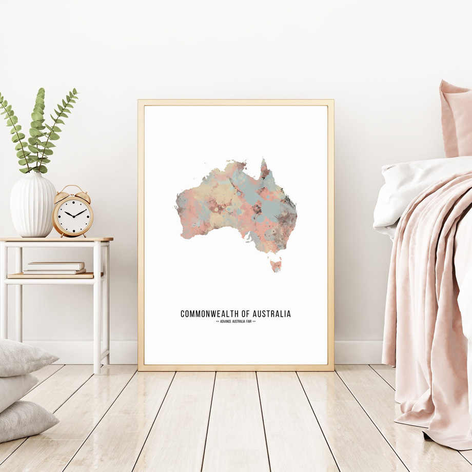 France Spain Russia Australia Custom World Map Nordic Posters And Prints Wall Art Canvas Painting Wall Pictures For Living Room