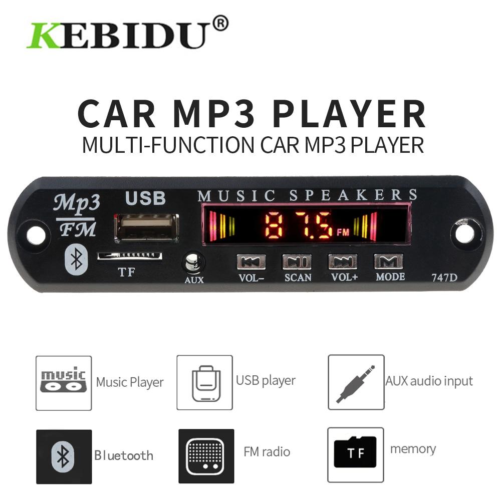 Kebidu 5V 12V MP3 Player Decoder Board Bluetooth MP3 Decoder Board Car Kit FM Radio TF USB 3.5 Mm WMA AUX Audio Receiver