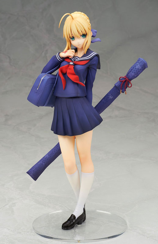 ALTER Fate Stay Night Anime School Uniform Ver Saber 18cm PVC Action Figure Collectible Model Doll Toy New форма для гандбола canterbury uglies