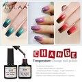 Newest  18 Colors Fashion Women Free Shipping Nail  Polish Temperature Change Nail Color UV Gel for Nail Soak Off Gel Polish