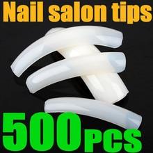 500 шт салонные натуральные прозрачные белые акриловые УФ-гелевые накладные ногти из акрила для французского маникюра дизайн ногтей удлиненные кончики оптом