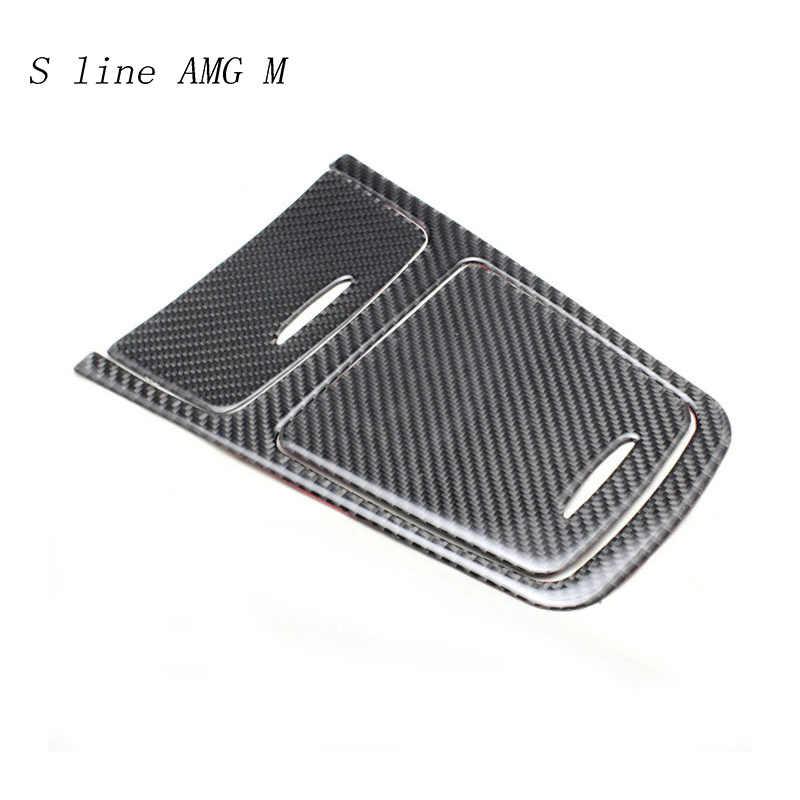 Artículo de decoración de control de estilo de coche/cubierta de caja de almacenamiento Sitcker fibra de carbono para Mercedes Benz A GLA CLA clase W176 x156 C117