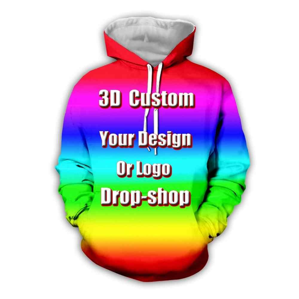 Os mais recentes de Criar Seu Próprio Projeto Do Cliente Anime/Foto/Estrela/Que Você Quer/Cantor Padrão/DIY hoody Sublimação de Impressão 3D hoodies