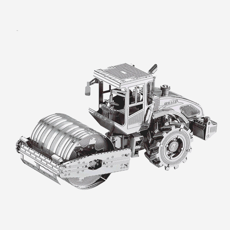 3D Metal Model Puzzle Children Toy Road Roller Model Assembling Kit Intellectual Development Adult Children Eucation Collection