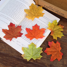 7cm Artificial Silk Maple Leaves for Photography Props Craft Fake Vivid Leaf Photos background DIY Scrapbooking Decoration