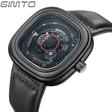 2016 Военная Площадь Одного Мужчины Часы Кожаный Ремешок бизнес часы Большой Кварц Циферблат Мужчин Спорта Наручные часы Montre Homme