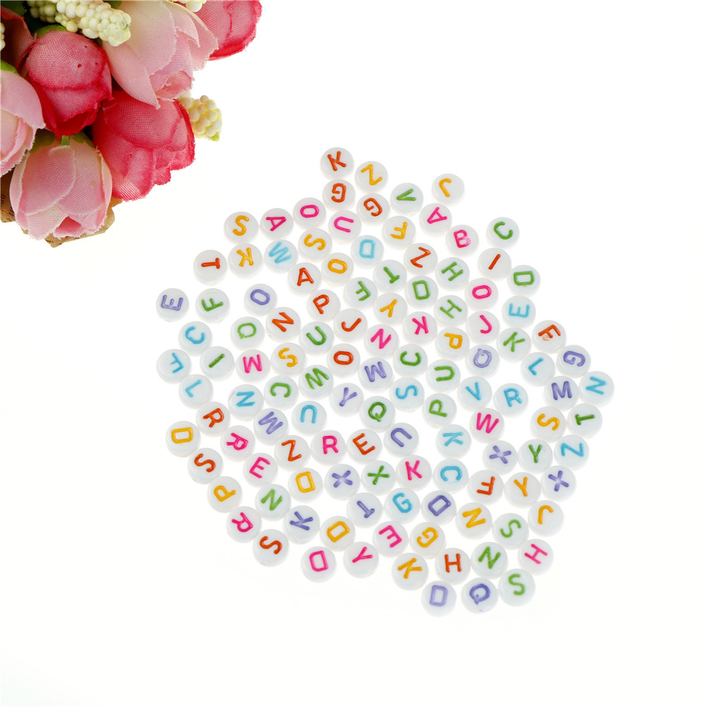 Arts,crafts & Sewing Systematic 100pcs/set Diy Colorful Alphabet Letter Acrylic Flat Round Spacer Beads English Letter Beads Structural Disabilities Garment Beads