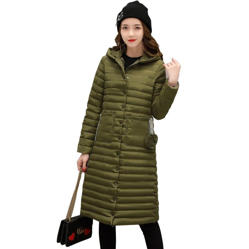 2017 Winter Jacket Women Hooded Long Coat Female Single-Breasted Down Cotton Coat Jackets Parka Jaqueta Feminina Inverno C3462 winter coat jacket women 2017 long coats female cotton hooded fashion solid zipper jackets casaco feminino jaqueta feminina
