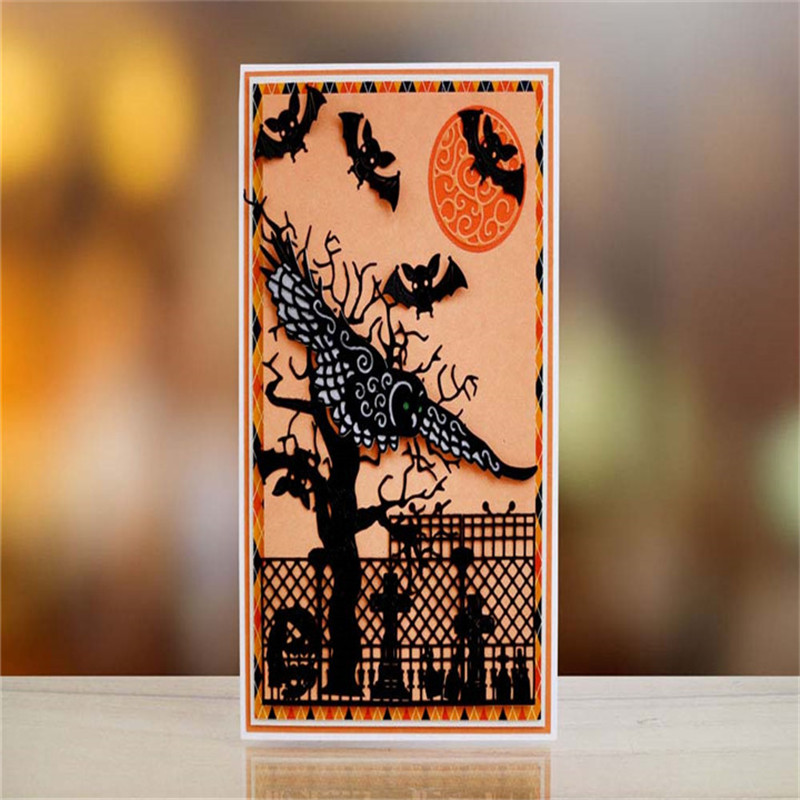 YaMinSanNiO 1Pcs lot Metal Cutting Dies Scrapbooking for Card Making DIY Embossing Cuts New Craft Die Flying Owl Dies New 2019 in Cutting Dies from Home Garden