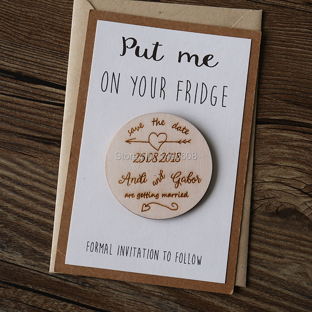 Save The Date Magnets Wedding Dates Rustic Wooden