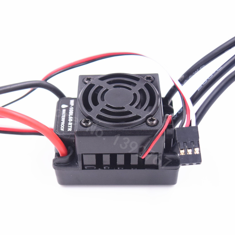 60A Waterproof ESC <font><b>2S</b></font> 3S SBEC 6V/3A Brushless Lipo NiMH Fits 540Motor For 1/10 Scale Models Remote Control RC Car WP-10BL60-RTR image
