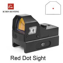 Robin Охота HD105 Red Dot RMR тактический, Компактный Mid Dot рефлекторный Коллиматорный прицел Открытый прицел для страйкбольного оружия оптический прицел