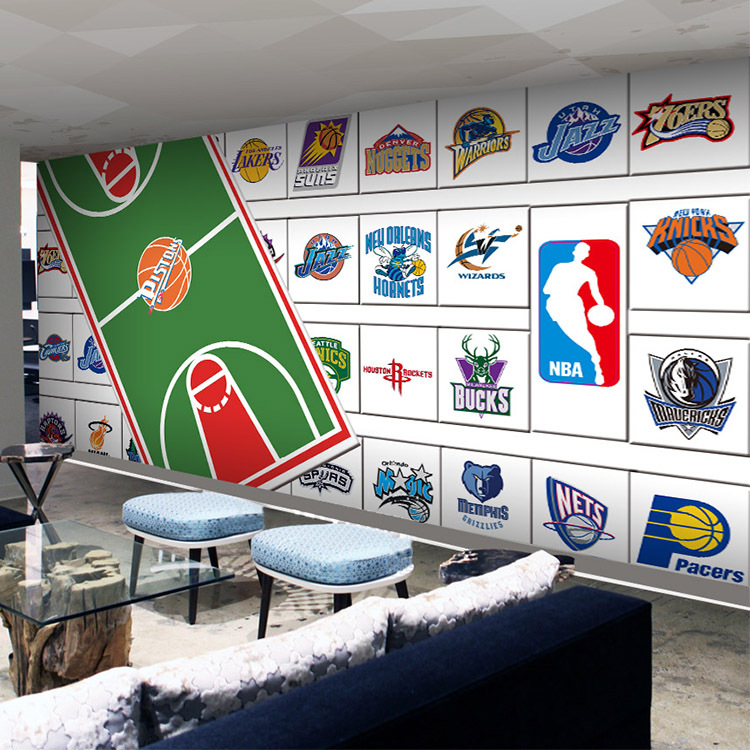 Online buy wholesale fitness backgrounds from china for Basketball mural wallpaper