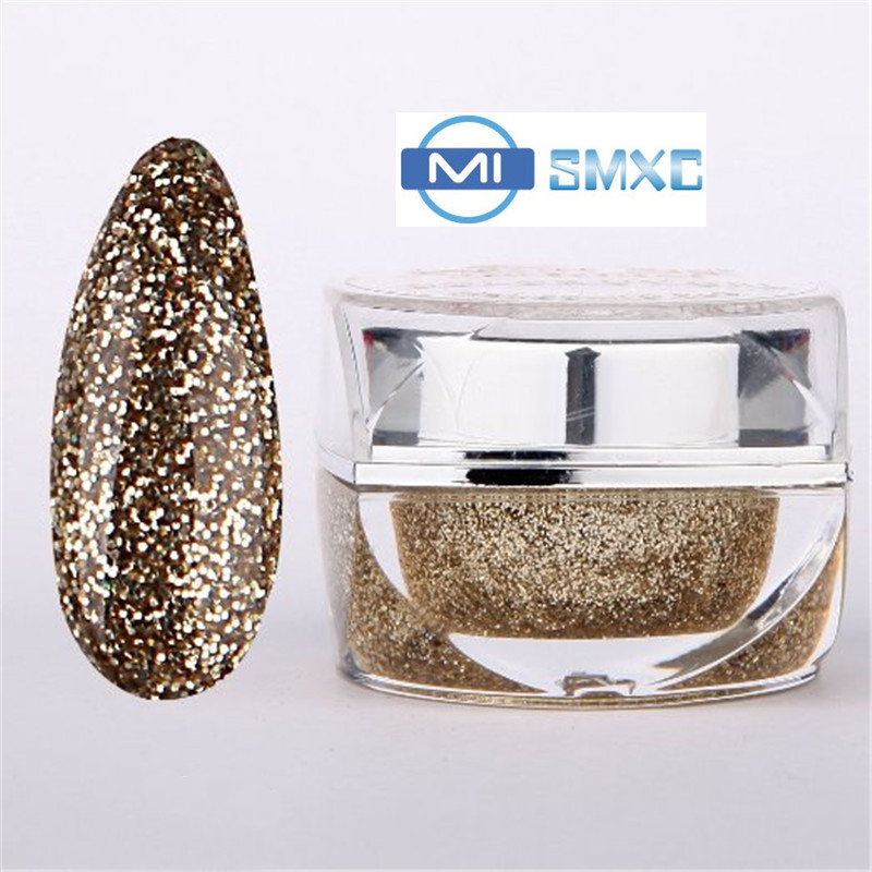 MISMXC 20ML 0 8OZ High Quality Soak Off UV Gel Shiny Colors Glitter font b Powder