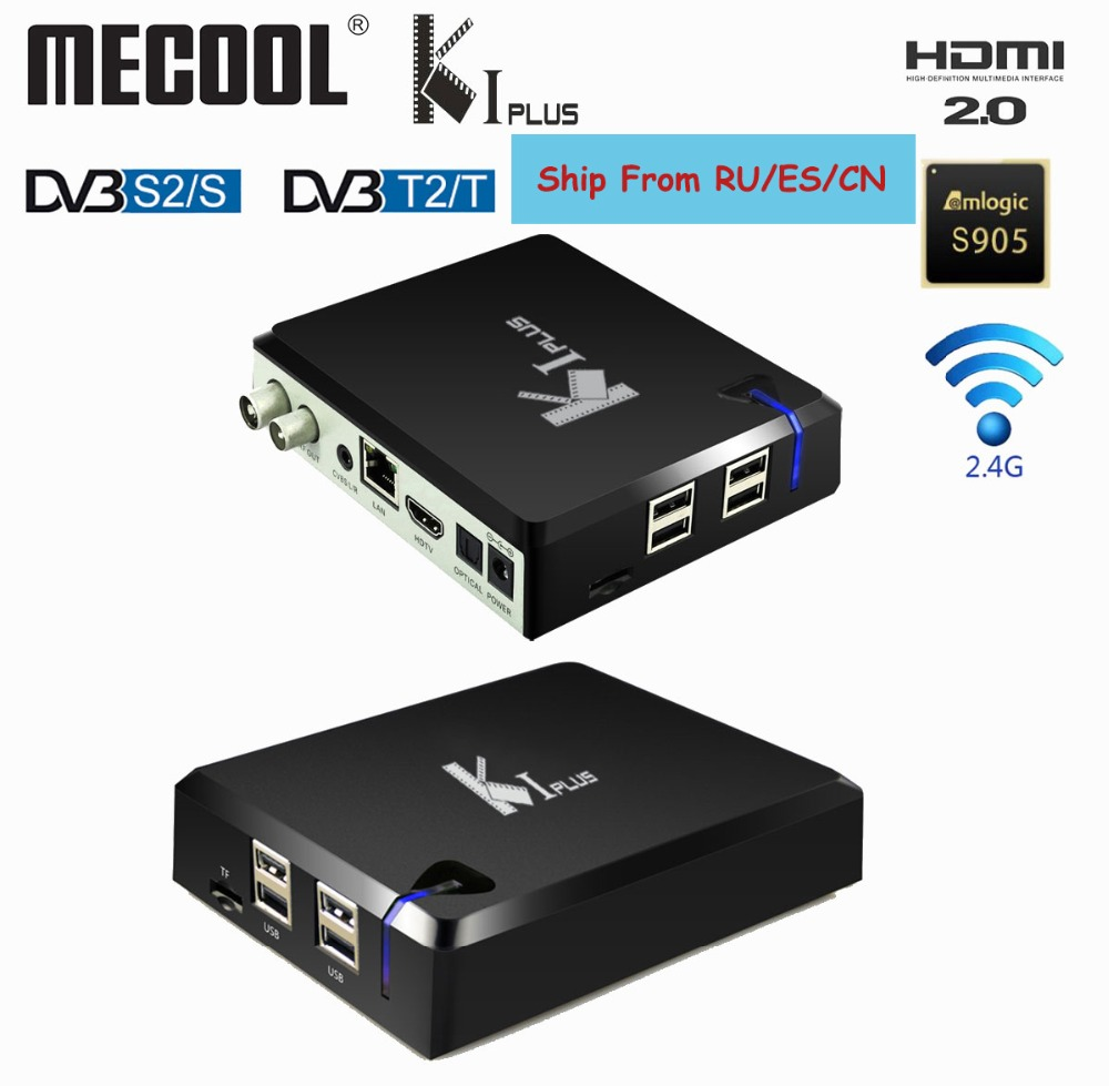 Mecool KI Plus TV Box Android DVB T2 DVB S2 Amlogic S905D Penta Core 64 bit