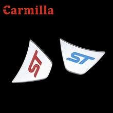 Carmilla stuurwiel st logo cover sticker voor Ford Fiesta Ecosport 2009 2010 2011 2012 2013 2014 2015 accessoires