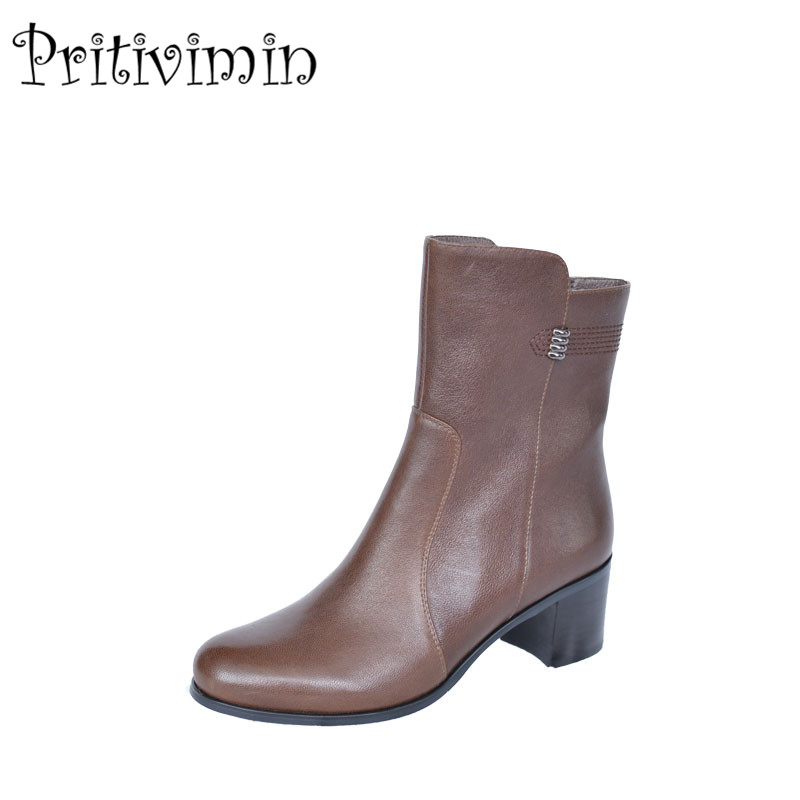 2018 Ladies sheepskin bottes femmes winter women botas mujer handmade shoes girls warm p ...