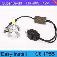 40W H4 6000K 8000K Japanese Beam LED Headlight For Car SUV Offroad 12V 24V